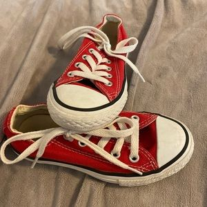 Youth 10.5 Converse All Stars in Red